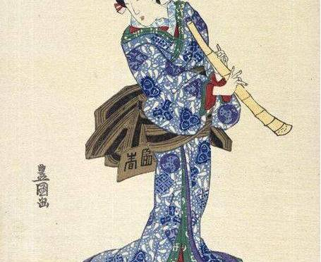 Are there Japanese women playing shakuhachi?