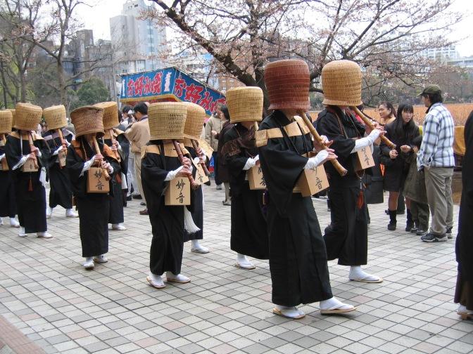 Komuso monks in Tokyo, April 2005